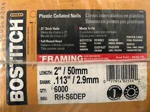 box Of 6 000 Full Round Head 2 X 113 Framing Stick 6d Nails 21 Degrees