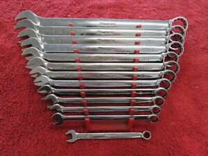 Snap On Oex711b Standard 5 16 1 Combination Wrench Set On A Rack Oex B Series