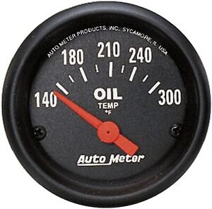 Autometer 2639 Z series 2 1 16 Oil Temp 140 300 Degree Electrical