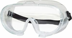 Splashproof Clear Safety Goggles With Adjustable Strap Clear Lens