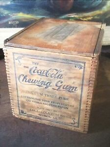 Extremely Rare c1903 Coca Cola Chewing Gum Shipping Crate ~ Atlanta, Ga!