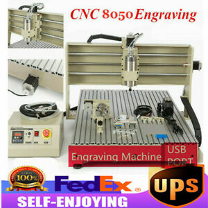Usb 4 Axis Cnc 8050 Router Engraver Machine Milling Drilling Woodworking 1 5kw