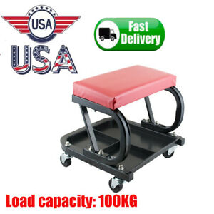 Mechanics Creeper Seat Rolling Stool Garage Shop Tool Chair Auto Car Work Repair