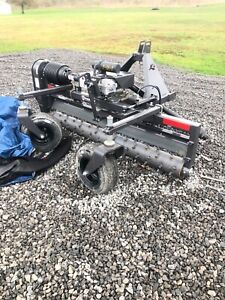 Harley T6h Power Landscape Rake For Tractors 3 Point Hitch 6 Wide Hyd Angle