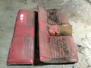 1971 1972 Other Ford Mustang Mach1 Rear Seat Back Bottom Non Folddown Oem Red