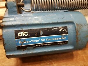Otc 50 ton Power Twin Single acting Hydraulic Ram s Center hole Ram Hollow Bore