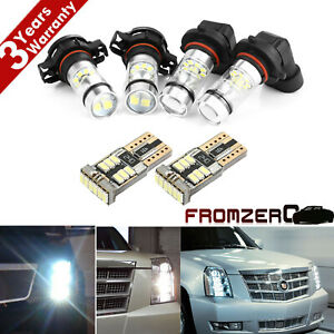 For Cadillac Escalade 2007 2014 6x White Led Fog Driving Drl Light Bulbs Combo P
