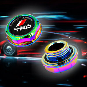 Trd Racing Neo Chrome Engine Oil Filler Cap Oil Tank Cover Aluminium For Toyota