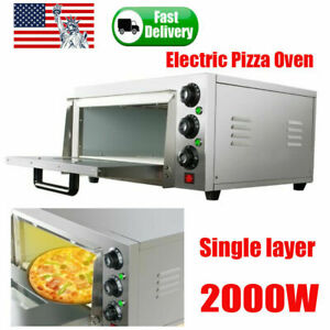 Commercial Pizza Oven Electric Countertop Toaster Cake Baking Baker Machine 2kw