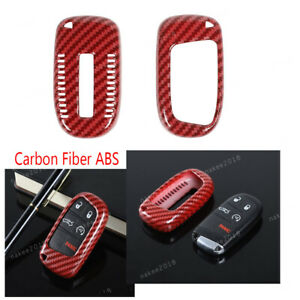 Carbon Fiber Abs Key Cover Case Protection For Jeep Cherokee 2014 Compass 2017