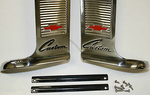 1960 1961 1962 1963 Chevrolet Truck Custom Cab Moulding Set Stainless W Hardware