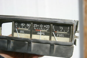 46 49 Dodge Vintage Gauge Cluster Fuel Gas Oil Amp