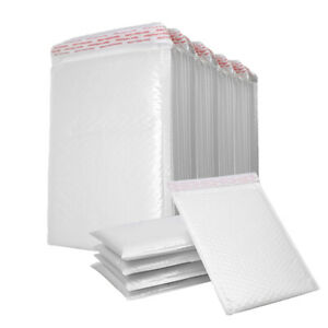 25 200pc Poly Mailer Bubble Mailers Padded Envelopes Self Sealing All Size White