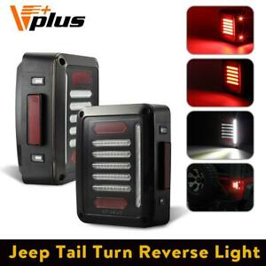 1set Clear Red Tail Light For Jeep Wrangler Brake Back Up Drl Turn Signal Light