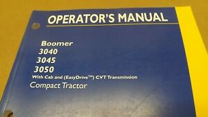 New Holland Boomer 3040 3045 3050 Cab Cvt Transmission Tractor Operators Manual