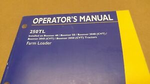 New Holland 250tl Loader For Boomer 40 50 55 Tractor Operators Manual