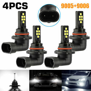 9005 9006 Combo Led Headlight Kit 240w High low Beam Bulbs Fog Light 6000k White