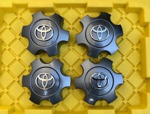 T69440 4 Sequoia Tundra 03 07 Wheel Center Hub Caps Charcoal 56069440 For Toyota