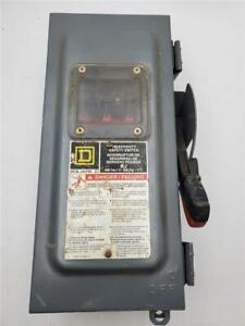 Square D Heavy Duty Safety Switch Hu361awkw 30a Nonfusible 600vac
