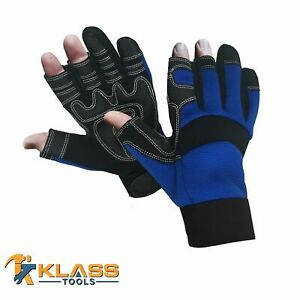 3 2 Fingerless Mechanic Glove W Synthetic Leather 1 Pair By Klasstools