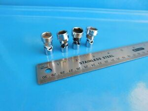 Used Mac Tools 11 12 13 14 Mm 1 4 Dr Universal Sockets Lot Of 4 Usa