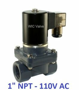 1 Inch Cpvc Anti Corrosion Acid Salt Water Electric Solenoid Valve Nc 110v Ac