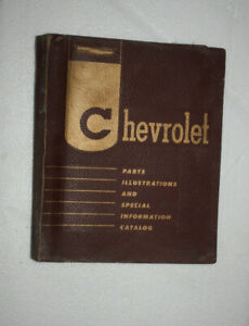 Chevrolet 1957 Factory Illustrated Parts Catalog Corvette Nomad Bel Air Trucks