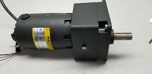 Baldor Dcpm Motor 90vdc 90 1 Reducer 1 20 Hp 19 2 Rpm Keyed Drive Shaft