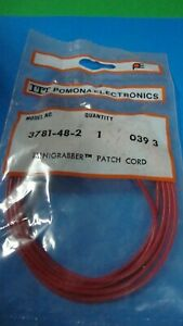 Pomona 3781 48 2 36 Mini Grabber Test Clip Each End 1 Red