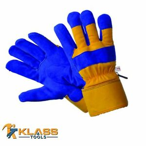 Thermo Lined Leather Working Gloves Size Osfm 6 Pairs By Klasstools