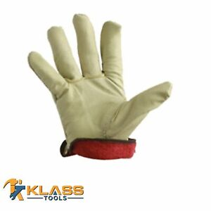 Lined Premium Leather Working Gloves 1 Pair By Klasstools