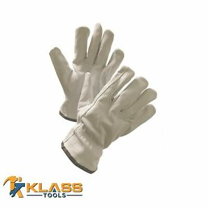 Goatskin Leather Working Gloves 12 Pairs By Klasstools