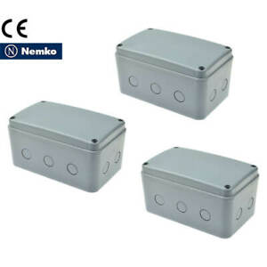 3pk Ip66 Waterproof Electrical Project Junction Box 181 111 100mm Abs Large Size