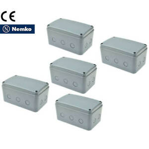 5pk Ip66 Waterproof Electrical Project Junction Box 181 111 100mm Abs Plastic