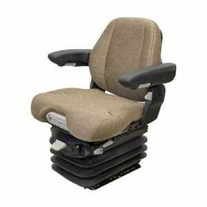 Seat Assembly Air Suspension With Ivt Armrests Brown Fabric John Deere 9400