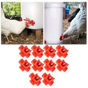 10 Pcs Horizontal Chicken Nipples Waterer Automatic Poultry Chicken Drinking Tap