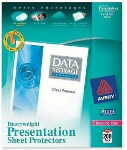 Avery Presentation Sheet Protectors 74400 Clear Top Loading Sheet Size