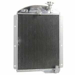 For 1941 1946 Chevrolet Gmc Truck Pickup 3 5l 3 8l 6cyl 4 Row Aluminum Radiator