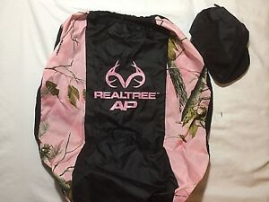 Realtree Ap Camouflage Lowback Seat Cover Pink Black Car Suv Truck Van New