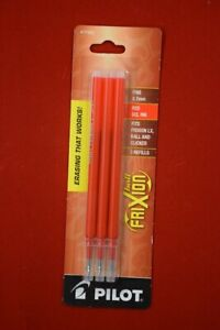 Pilot Frixion Erasable Ink Pen Refills 0 7mm Red Ink Pack Of 3 lot Of 14