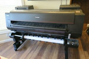 Canon Imageprograf Pro 4000 44 Wide Format Poster Printer Plotter W 2nd Roll