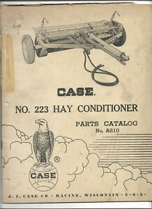 Original Oem Oe 12 1960 Case No 223 Hay Conditioner Parts Catalog No A810