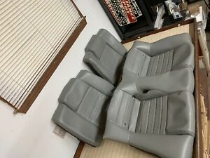 05 06 07 08 09 Ford Mustang Gt Coupe Leather Rear Seat Covers Grey Gray Dove