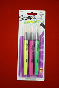 Sharpie Clear View Highlighter Chisel Point Assorted 3 pack lot Of 6 Packs