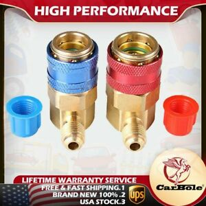 Ac Manifold Gauge R134a Hose Conversion Quick High low Adapter Fitting Coupler