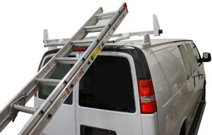 Stainless Rear Roller Van Ladderrack Gmc Savana Chevy Express 1 5 X 1 5 Square