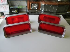 Cutlass 442 New Set Of Correct Taillight Tail Light Lenses Lens 1971 71