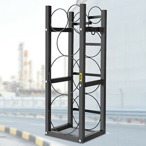 Refrigerant Tank Rack Cylinder Tank Rackwith 2 30lb And 3 Small Bottles