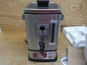 Continental Electric Ps sq018 Coffee Urn 50 Cup Stainless Steel