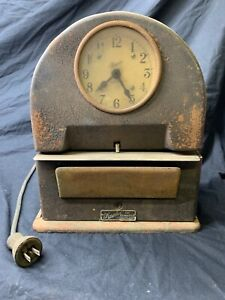 c Vintage Simplex Time Recorder Co Time Clock u s a